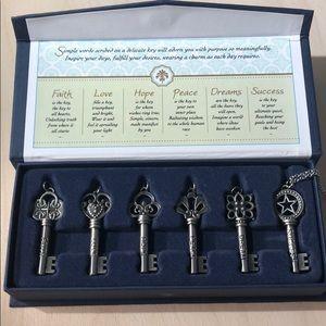 "NIB - ""Keys to Life"" Necklace Set"